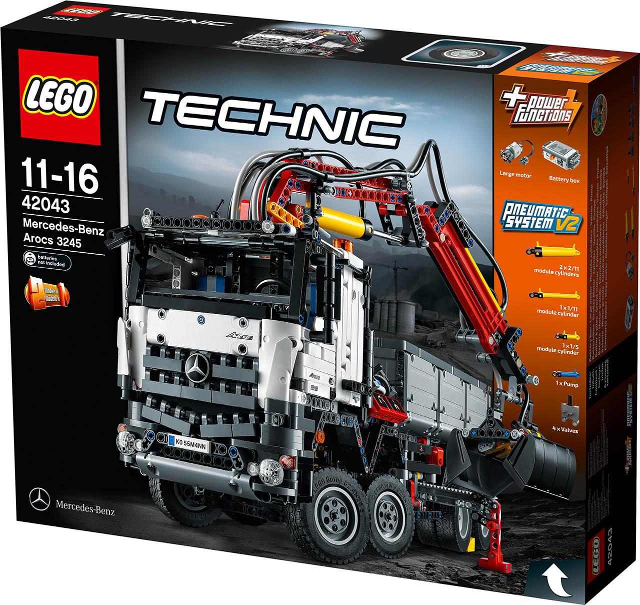 lego technics recria mercedes benz arocs 3245 motor. Black Bedroom Furniture Sets. Home Design Ideas
